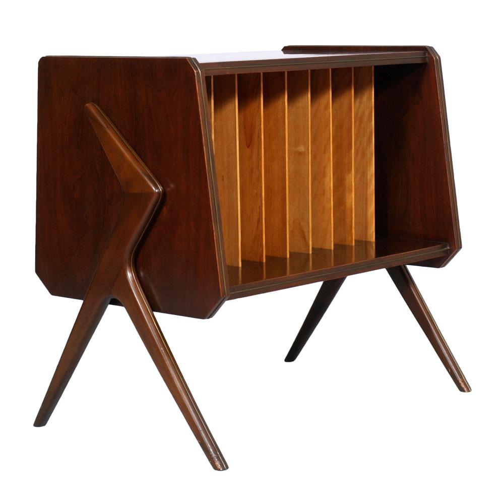 Mobile porta dischi riviste mid century magazine rack for Riviste design