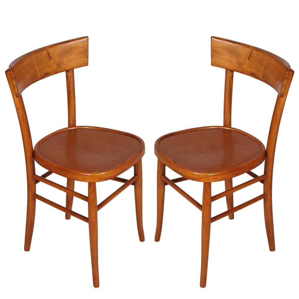 Coppia Sedie Vintage Anni 39 50 Pair Of Chairs Mid Century
