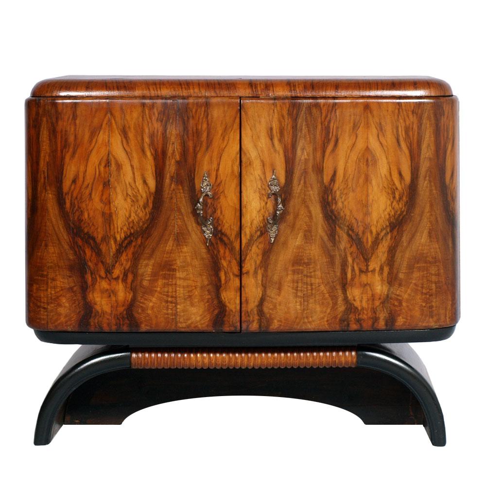 art deco console cabinet