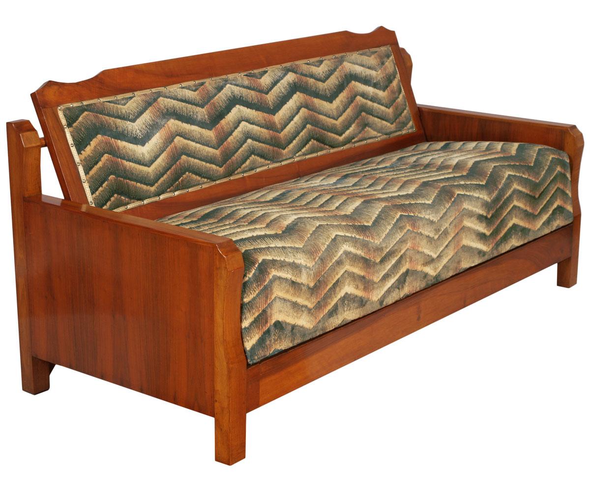 Divano letto art deco 39 noce anni 30 1930s convertible sofa bed in walnut ma s65 ebay - Divano letto country ...