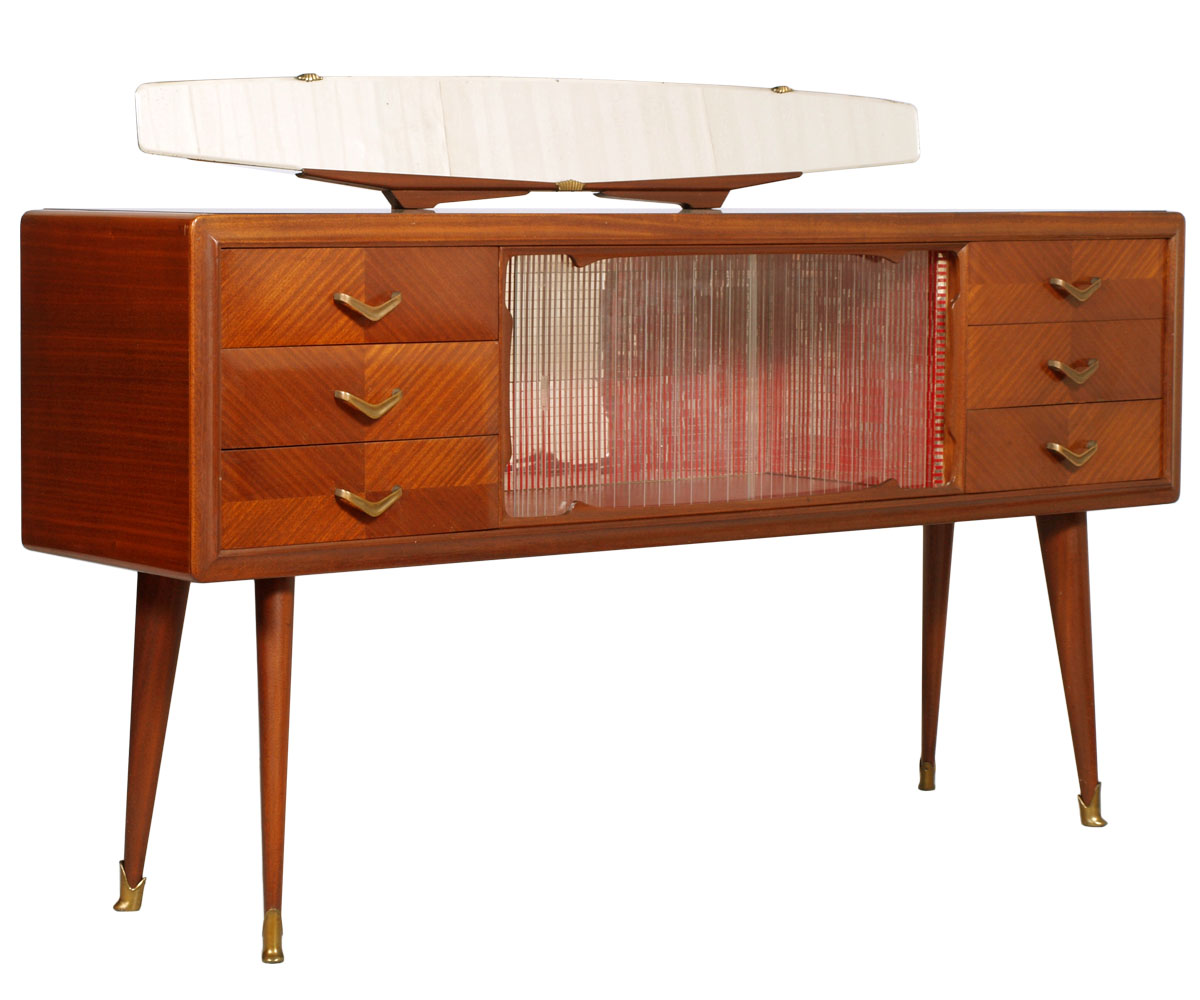 Mid Century Modern Sideboard Credenza Vetrina Design Paolo