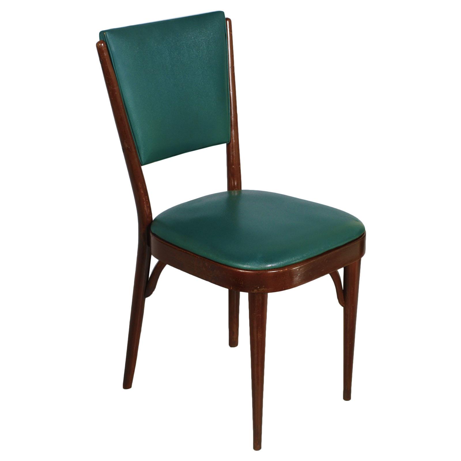 Mid century modern chair sedia art deco in noce anni 39 30 for Sedia anni 40