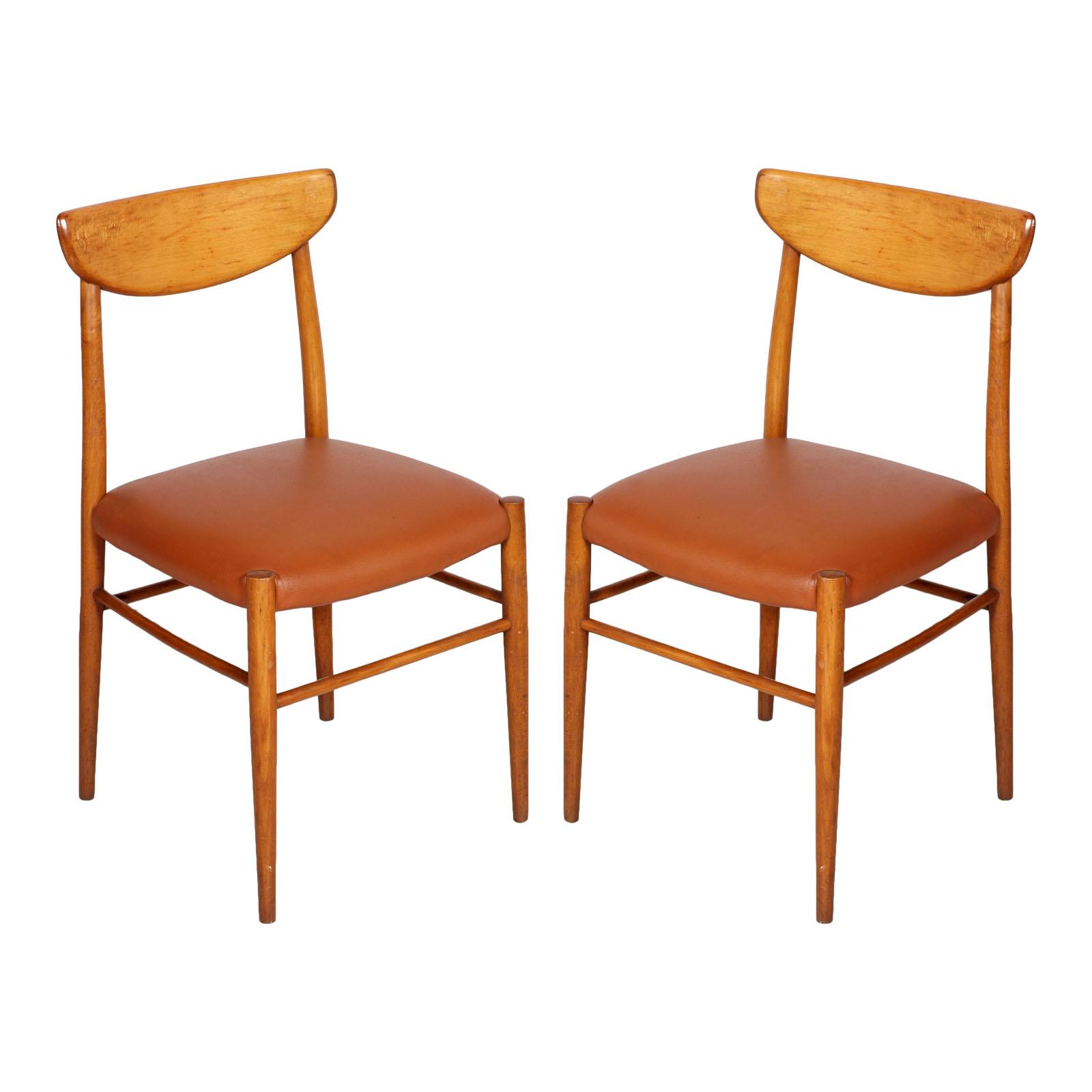 Pair of chairs danish design sedie peter hvidt orla for Sedie design ebay