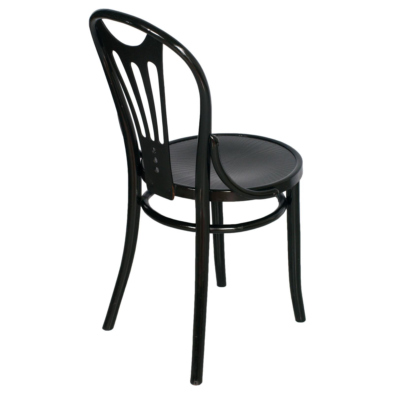 Thonet Sedie L Esteta In Soggiorno : Set quattro sedie thonet in faggio curvato liberty black