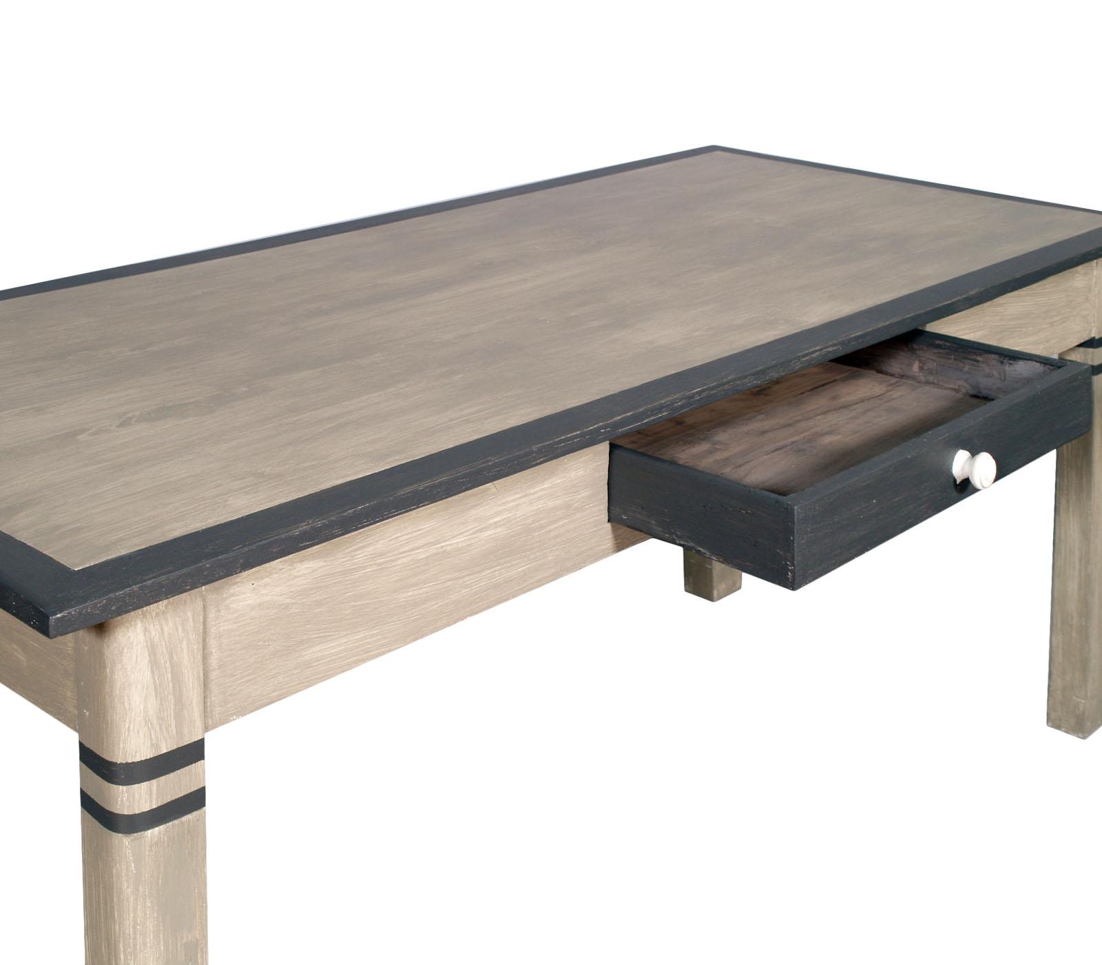 TAVOLO TABLE SHABBY CHIC LUNGO RETTANGOLARE GRIGIO GREY SCRIVANIA ...