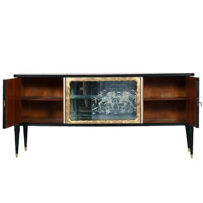 Credenza sideboard cabinet midcentury vintage design anni '40 ...