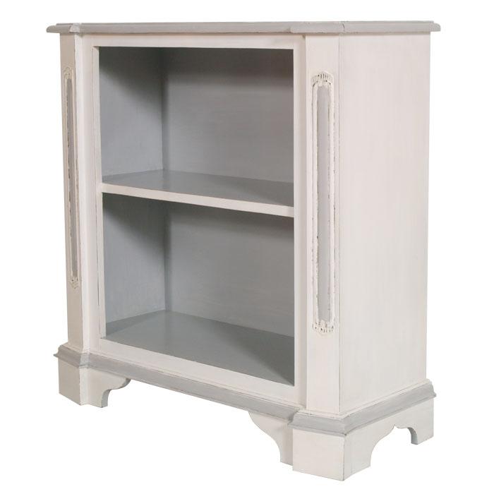 Libreria bassa vetrinetta a giorno shabby chic laccato - Porta tv bianco ...