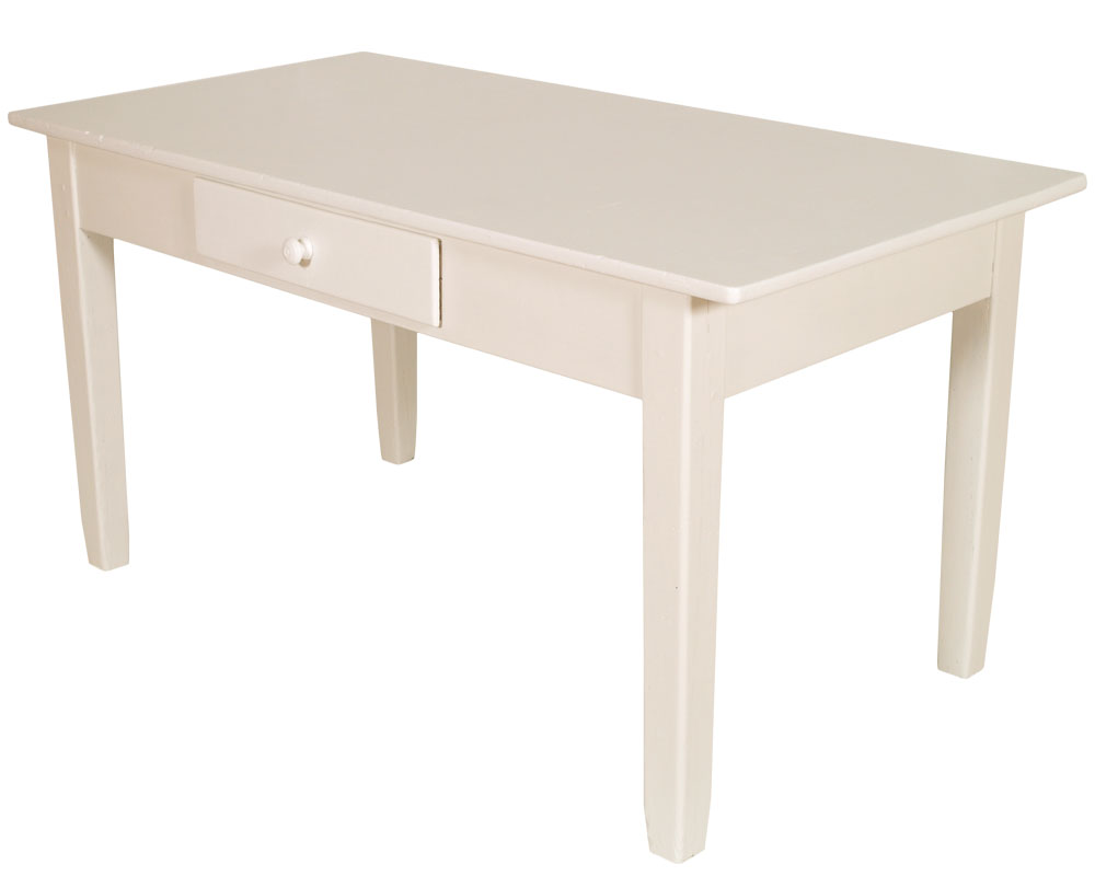 Tavolo scrittoio shabby chic laccato bianco arte povera for Tavolo stile shabby