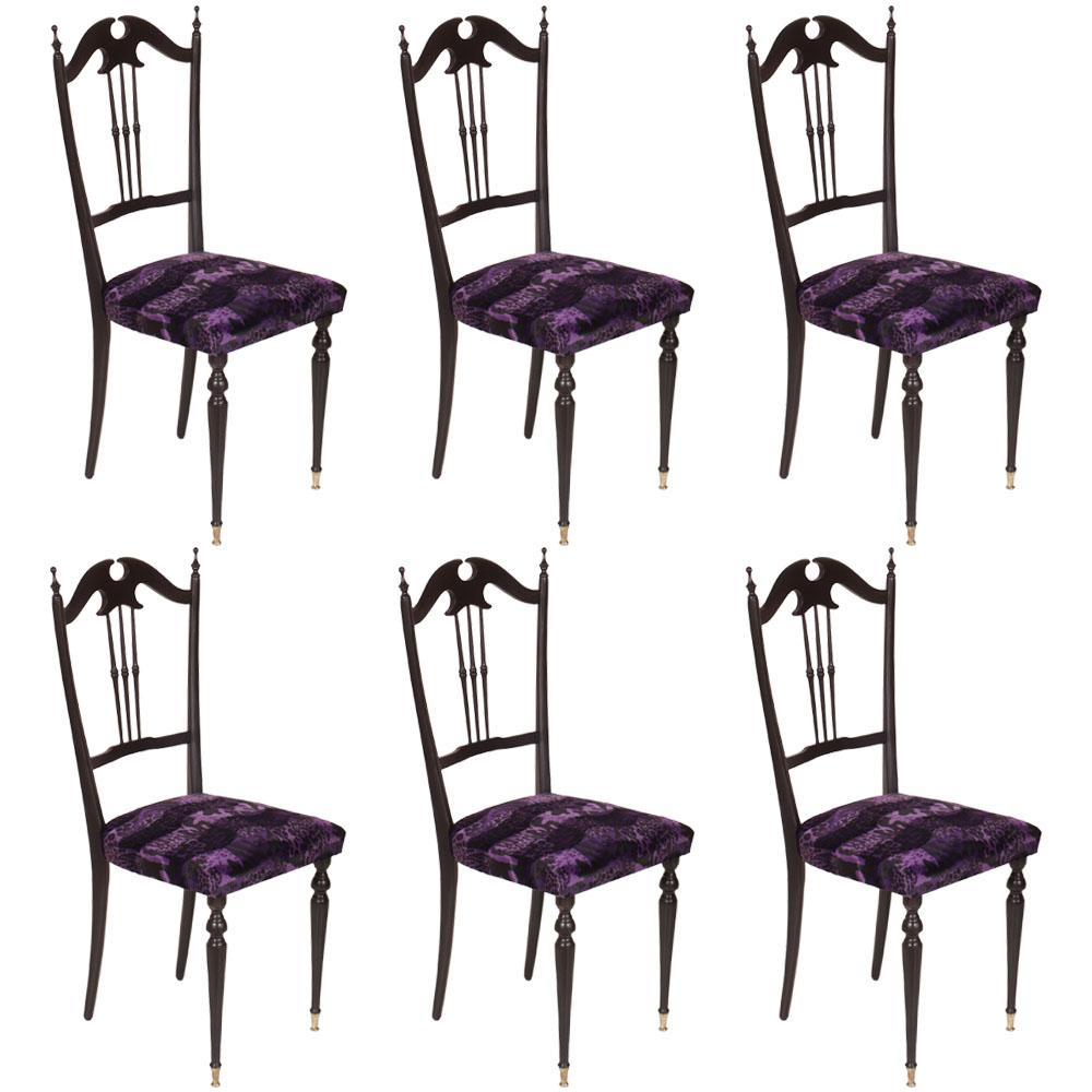 Perfect set sei sedie chiavari anni u with sedie nere for Sedie bianche e nere