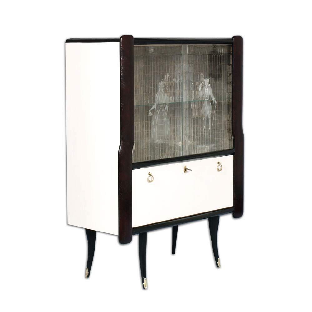 Mobile bar design anni 39 40 venetian midcentury bar cabinet - Mobile bar anni 70 ...