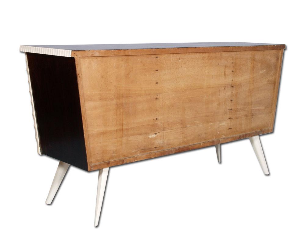 Pin Credenza Vintage Design Anni 50 In Noce Con Specchiera ...