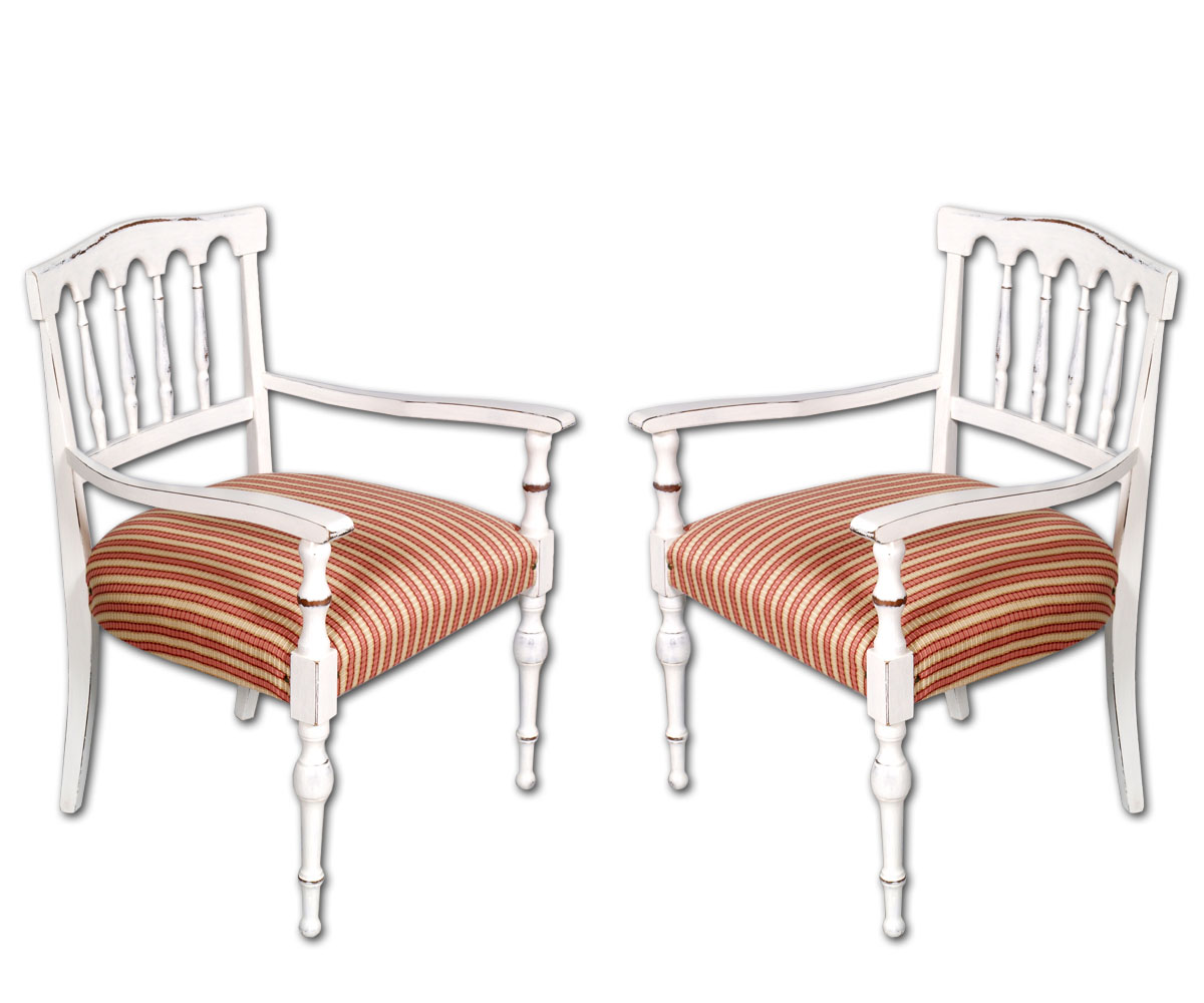 2 poltroncine gotiche laccate pair shabby gothic chairs for Sedie shabby chic ikea