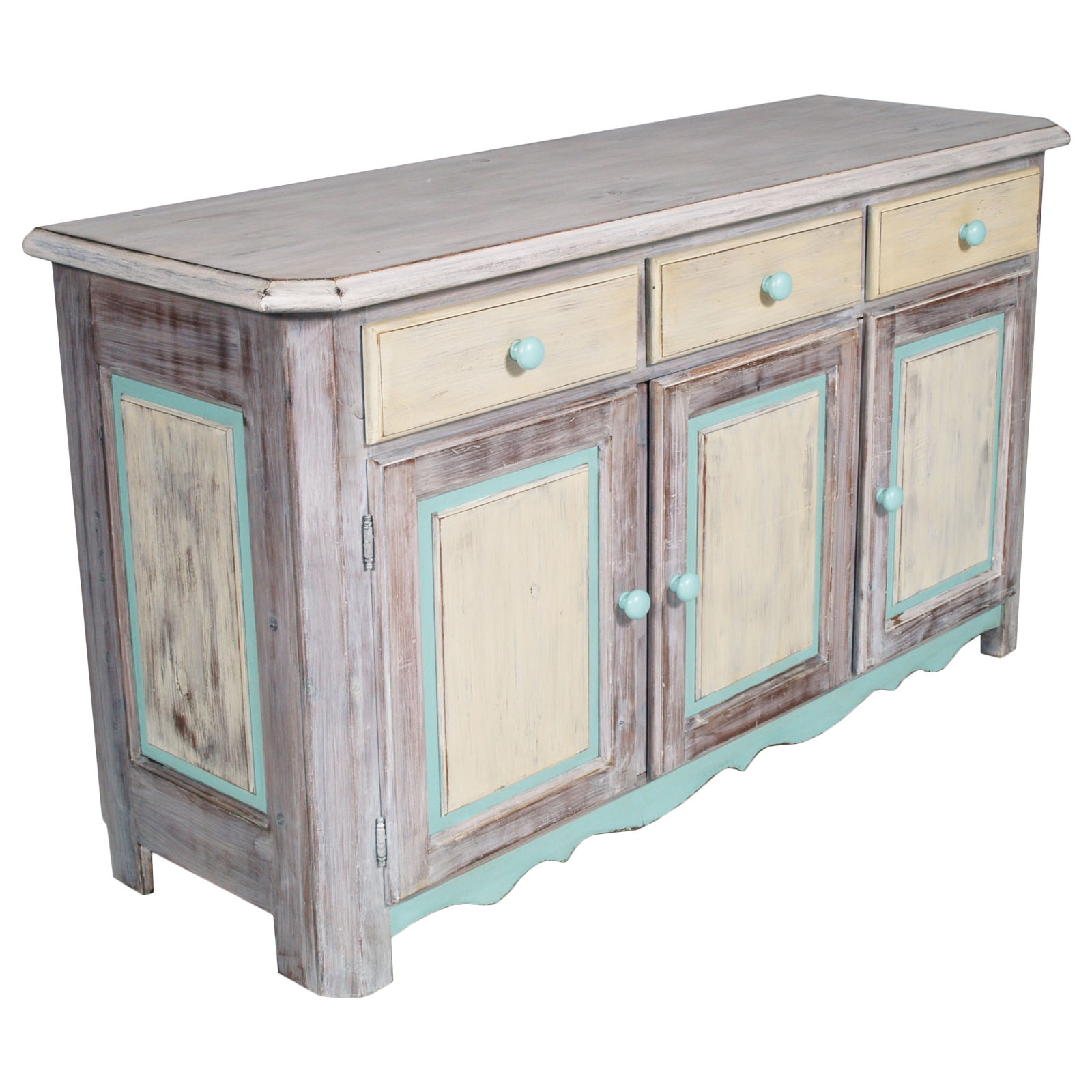 shabby chic buffet sideboard display cabinet credenza vetrina country my 92 ebay. Black Bedroom Furniture Sets. Home Design Ideas