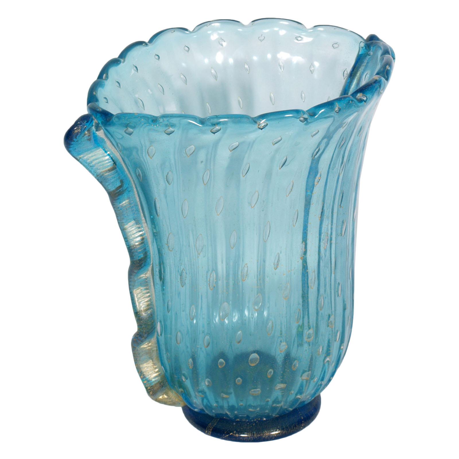 Barovier toso murano glass vaso art deco vase signed for Barovier e toso