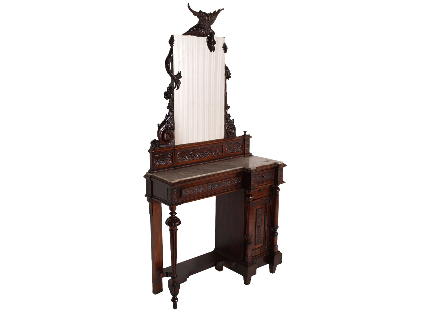 antique-console-vanity-mirror-carved-dragon-MAC16-1