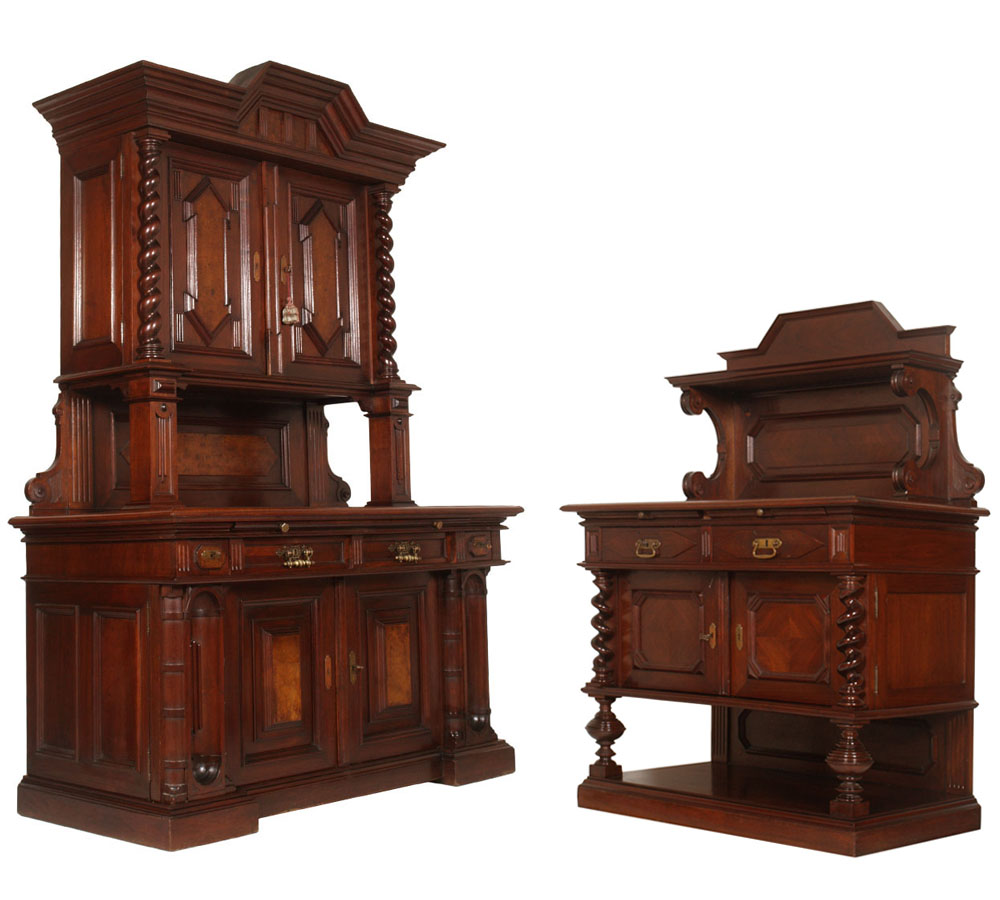 antique-dining-set-two-sideboard-cabinet-MAR45-1