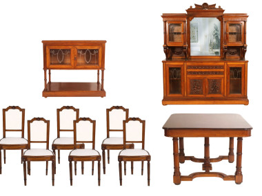 antique-furniture-set-dining-room-neoclassic-solid-wood-MAM71-1