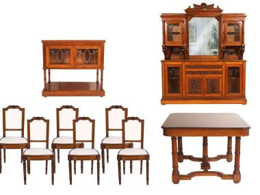 antique-furniture-set-dining-room-neoclassic-solid-wood-MAM71-1