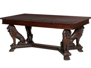 antique-renaissance-table-carved-walnut-lion-MAG42-1