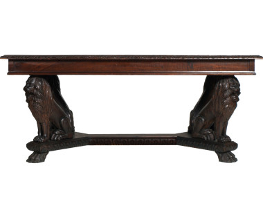 antique-renaissance-table-carved-walnut-lion-MAG42-2