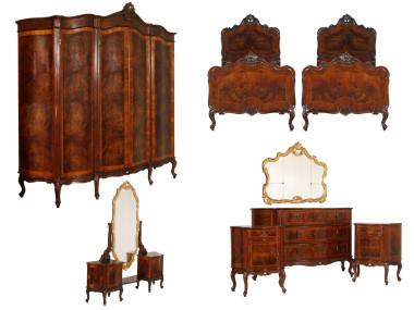 antique-chippendale-bedroom-furniture-set-MAH67-1