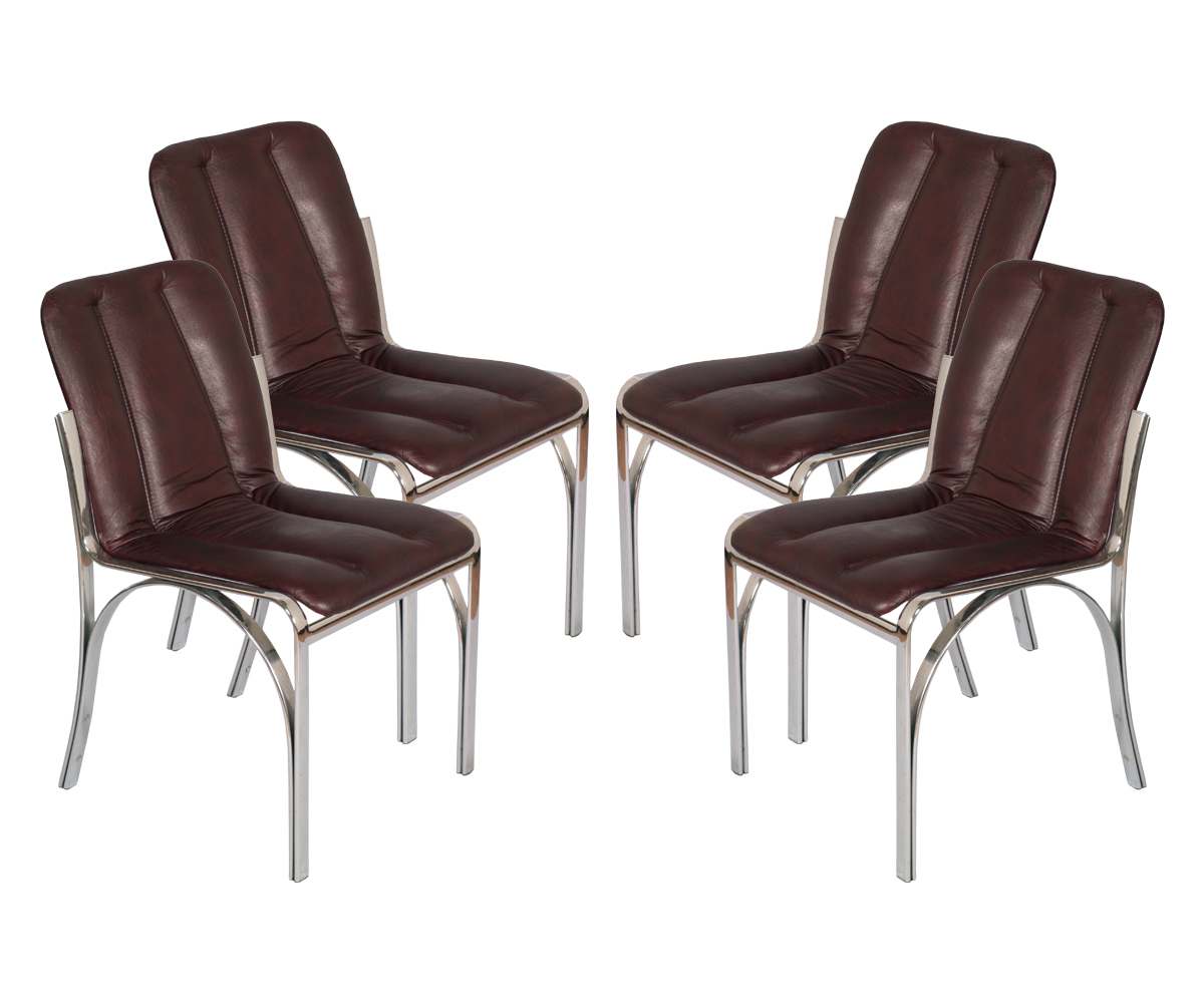 mid-century-modern-four-chairs-chromed-steel-leather-MAS07-1
