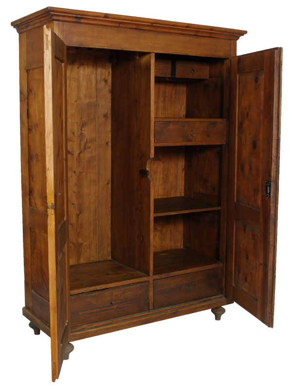 Antique library cupboard Wardrobe Pantry 800 Tyrolean Pine ...