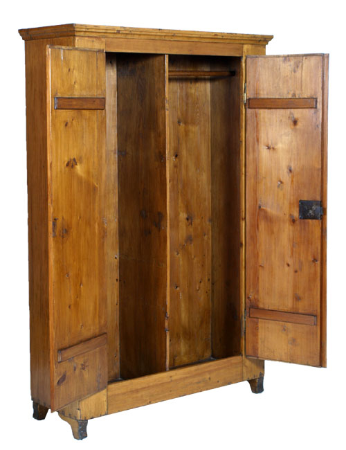 ARMADIO GUARDAROBA COUNTRY WARDROBE CABINET LIBRARY ABETE RESTAURATO - MA D02  eBay