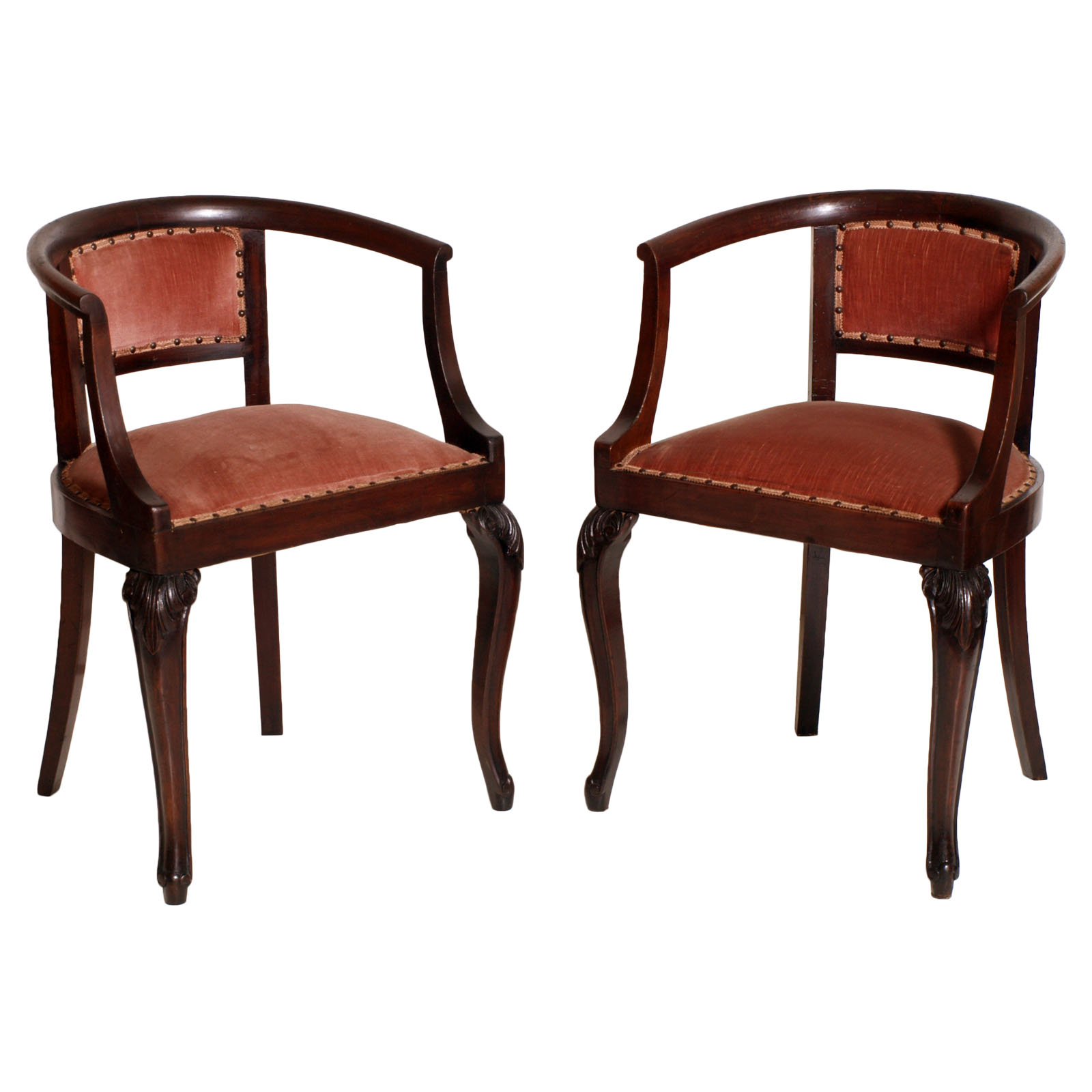 ANTIQUE LIBERTY PAIR OF CHAIRS POLTRONCINE COPPIA SEDIE POZZETTO IN ...