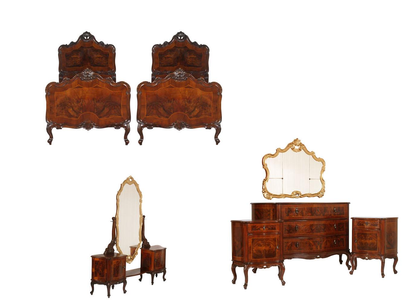 ... furniture ANTICA CAMERA DA LETTO BAROCCO VENEZIANO NOCE - MA H67