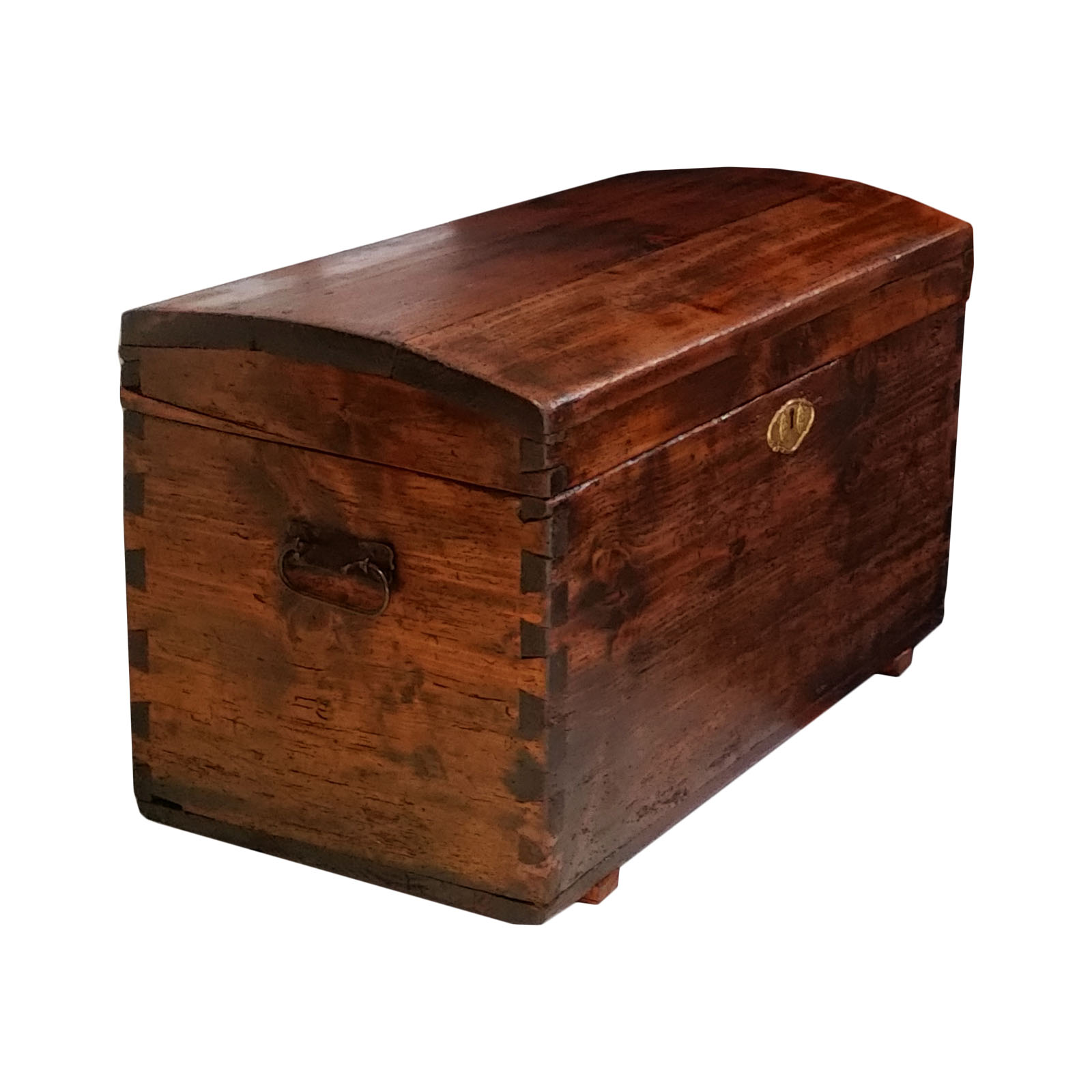 Piccola Cassapanca In Legno.Antique Country Small Chest Traveling Trunk Antique Chest Trunk