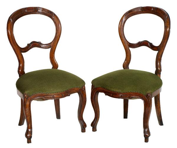 Coppia sedie poltroncine da camera luigi filippo in noce for Sedie design 900