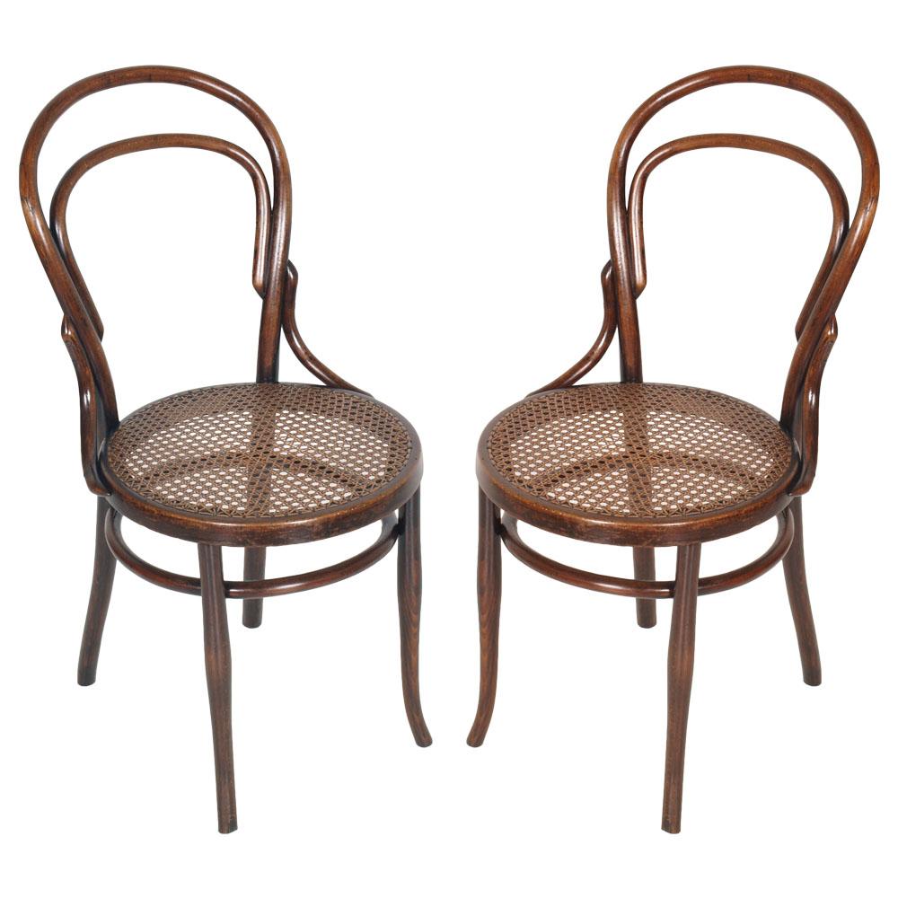 coppia sedie thonet in faggio curvato e paglia di vienna