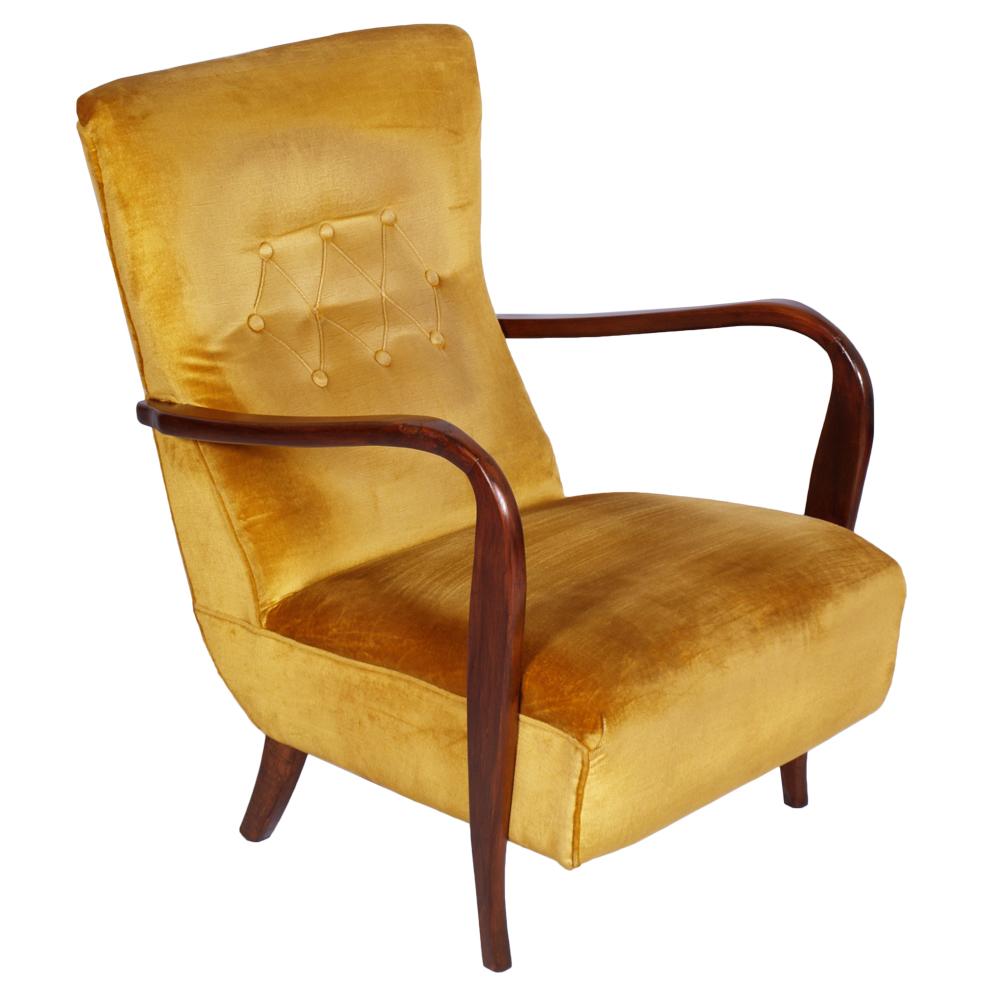 Poltrona Vintage Design Carlo Mollino Deco Anni 40 Armchair Art