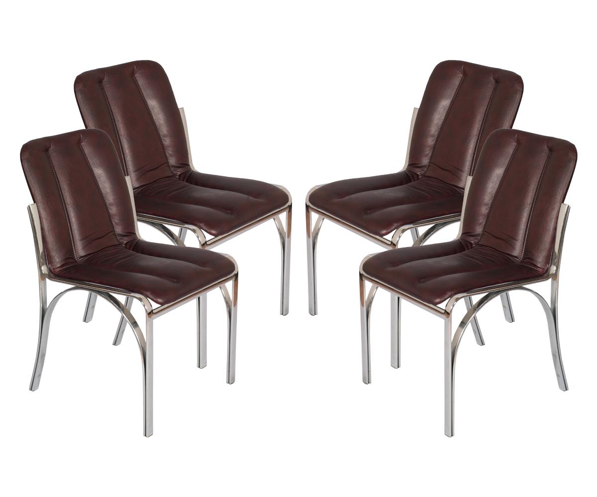 Quattro sedie s chairs design anni osvaldo borsani acciaio
