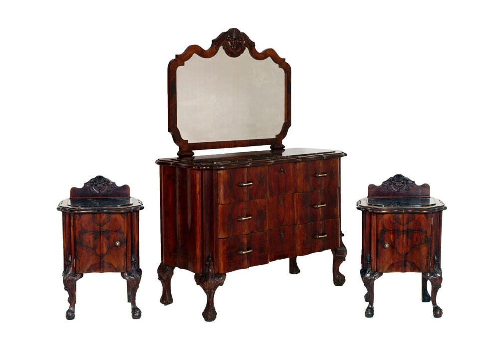 Antique Chippendale Furniture Set 1930s Italian Bedroom