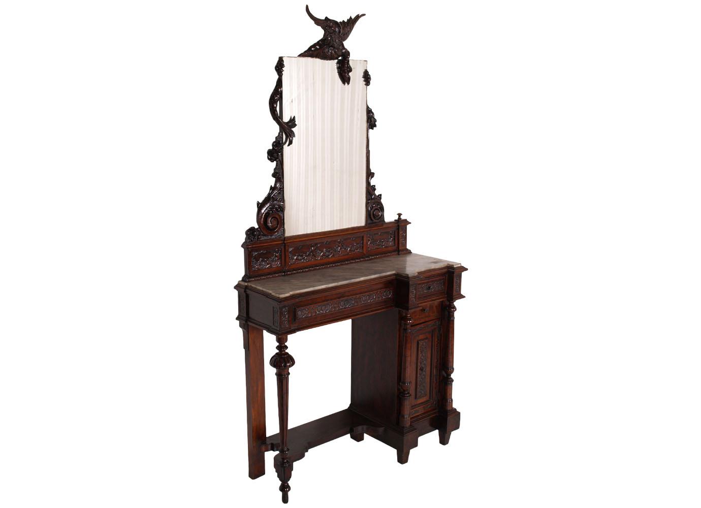 antique-console-vanity-mirror-carved-dragon-MAC16-1