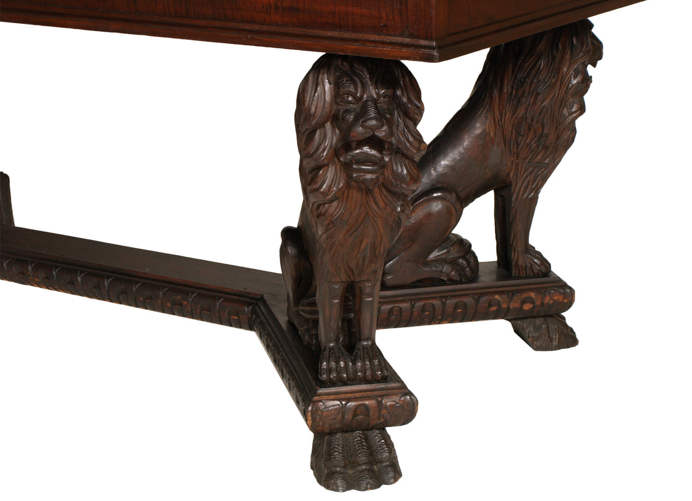antique-renaissance-table-carved-walnut-lion-MAG42-3