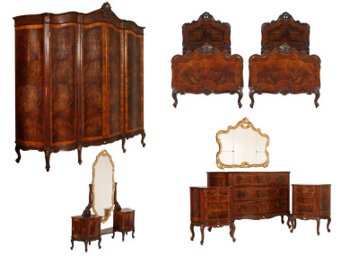 antique-chippendale-bedroom-furniture-set-MAH67-1
